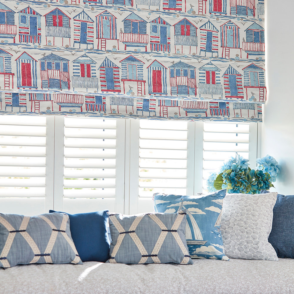 Sanderson Beach Huts Nautical Fabric - Product code: 226490