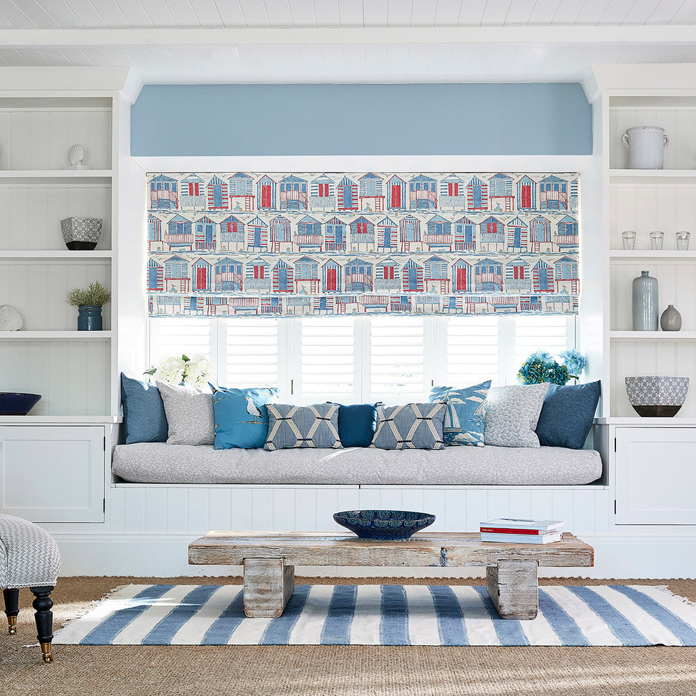 Sanderson Beach Huts Nautical Fabric extra image