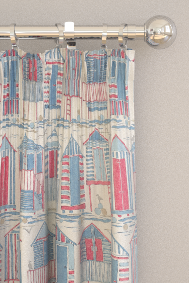 Sanderson Beach Huts Nautical Curtains - Product code: 226490