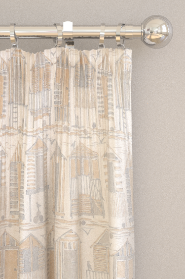 Sanderson Beach Huts Driftwood Curtains - Product code: 226491