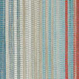 Harlequin Spectro Stripe Teal Sedona Rust Wallpaper
