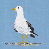 Sanderson Shore Birds Marine Fabric