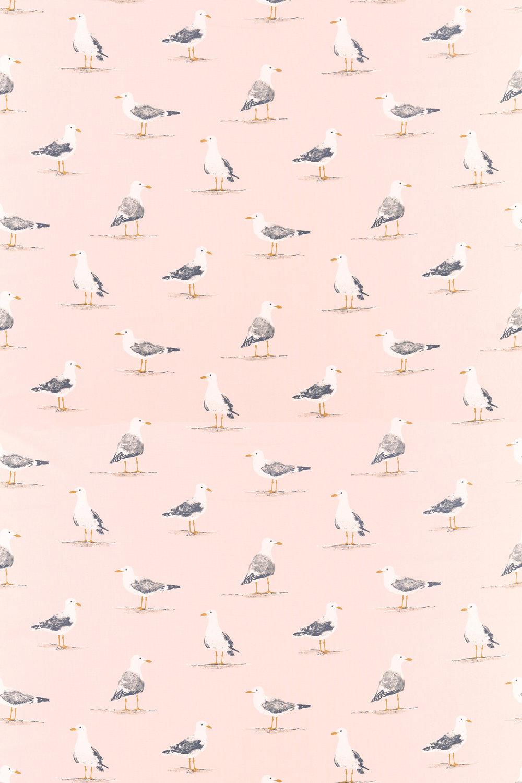 Sanderson Shore Birds Blush Fabric - Product code: 226495