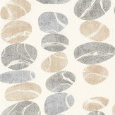 Sanderson Stacking Pebbles Driftwood/Slate Fabric