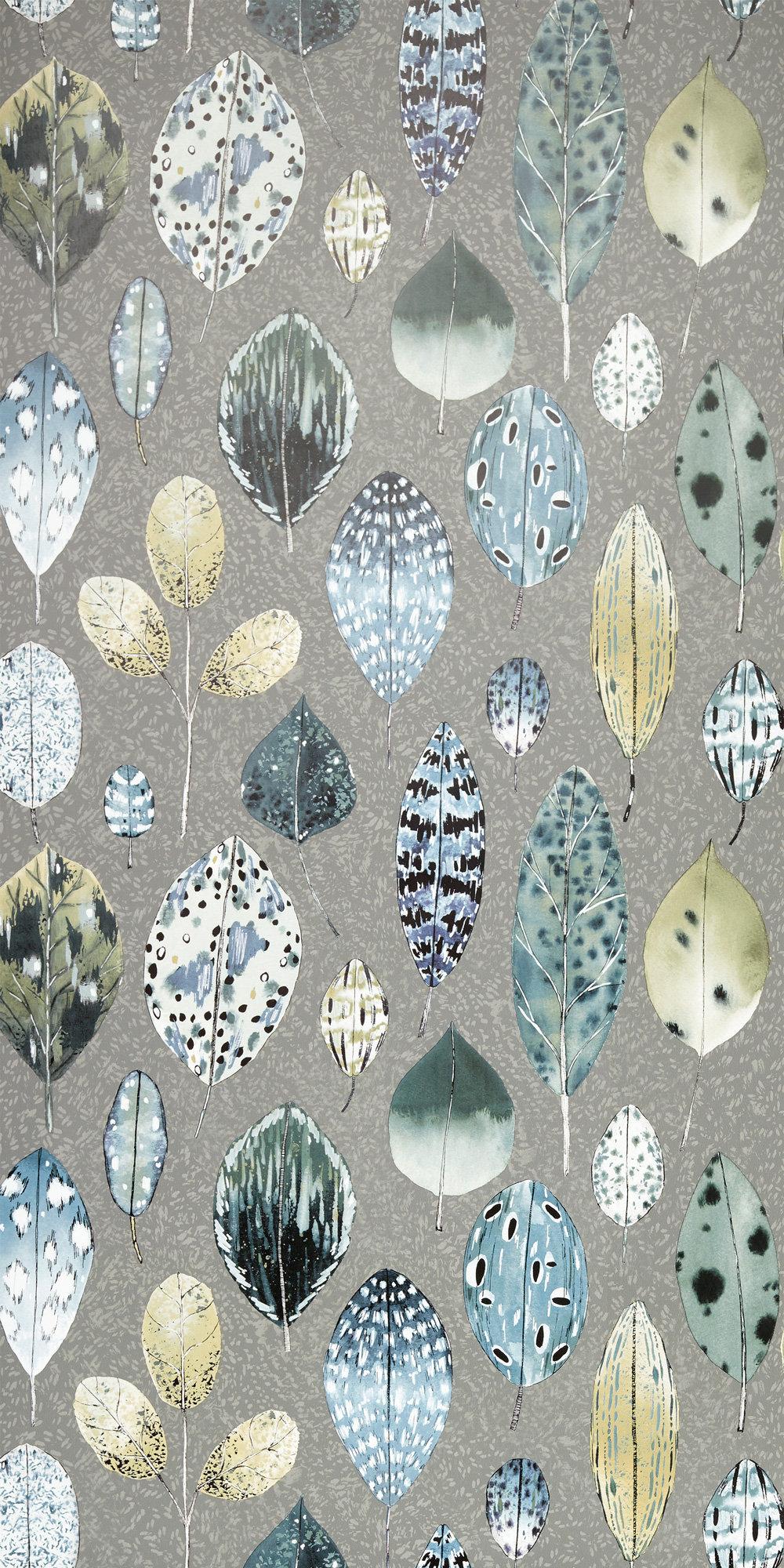 Tulsi Wallpaper - Zinc - by Designers Guild