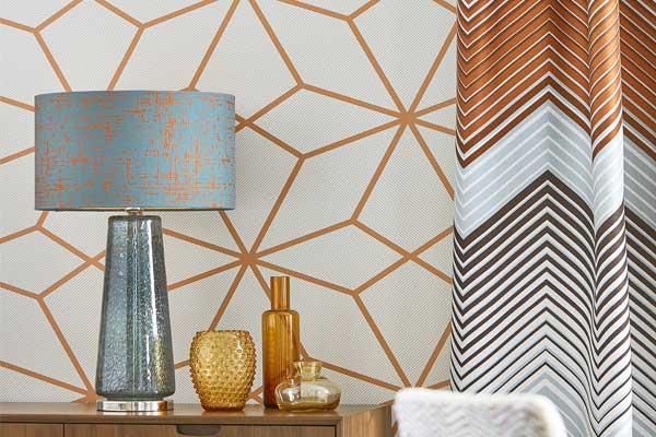 Harlequin Axal Rust Wallpaper
