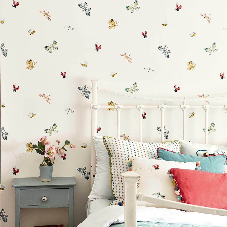 Buzzing Around Wallpaper - Multi-coloured - by Villa Nova