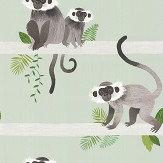 Villa Nova Monkey Bars Green Wallpaper - Product code: W567/01