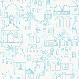 Villa Nova Teeny Santorini Blue Wallpaper - Product code: W569/01