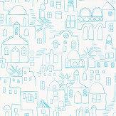 Villa Nova Teeny Santorini Blue Wallpaper
