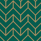 Harlequin Tessellation Teal / Gold Wallpaper - Product code: 111984