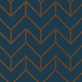 Harlequin Tessellation Marine / Copper Wallpaper - Product code: 111986