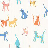 Villa Nova Pretty Kitty Multi-coloured Wallpaper - Product code: W580/01