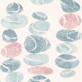 Sanderson Stacking Pebbles Sky/Blush Fabric
