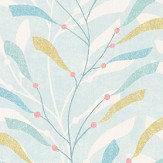 Sanderson Sea Kelp Aqua/Lichen Fabric - Product code: 226498