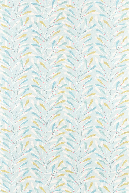 Sea Kelp Fabric - Aqua/Lichen - by Sanderson