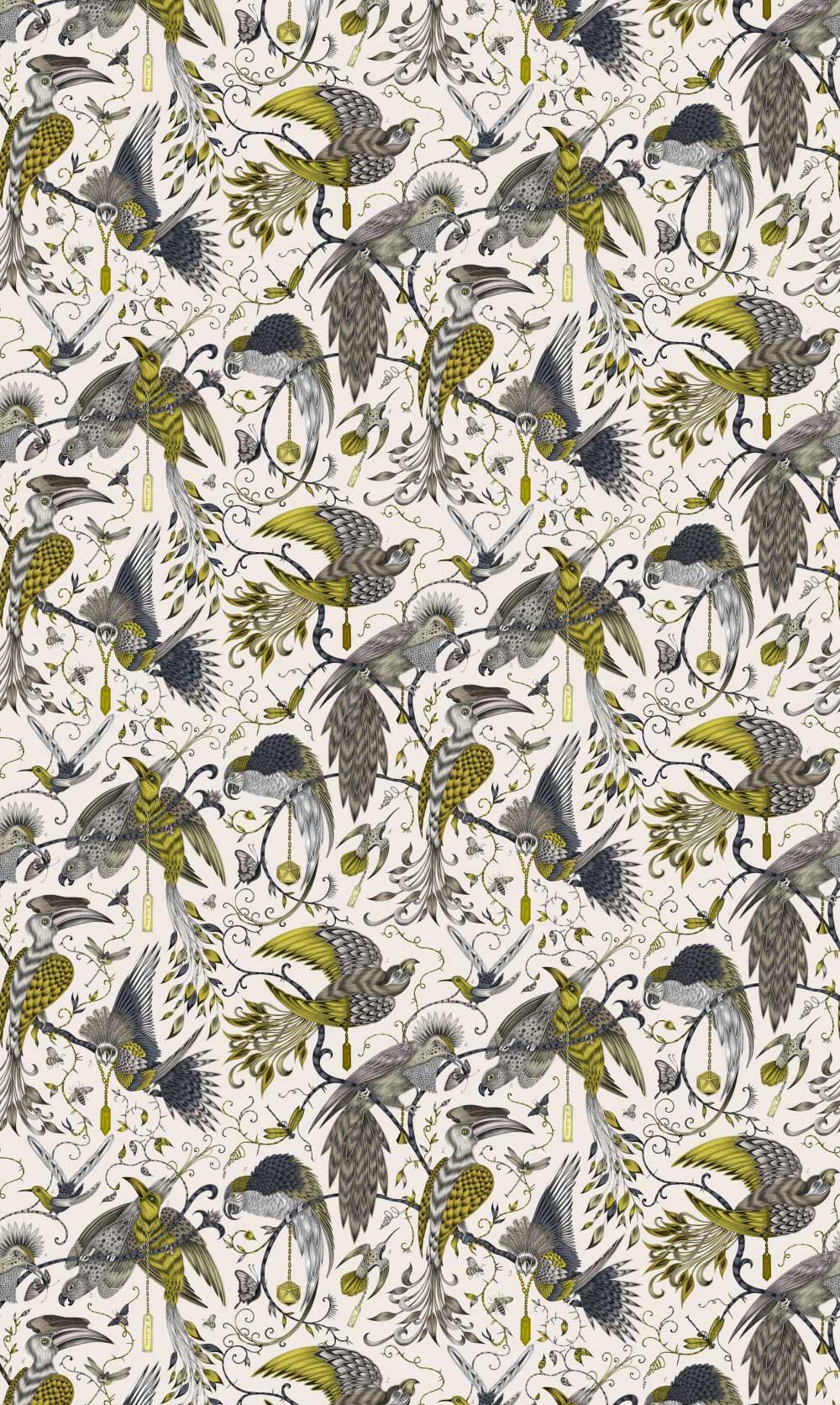 Emma J Shipley Audubon Gold Fabric - Product code: F1108/02