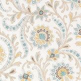 Nina Campbell Baville Aqua/ Ochre Wallpaper - Product code: NCW4351-03