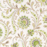 Nina Campbell Baville Green/ Taupe Wallpaper