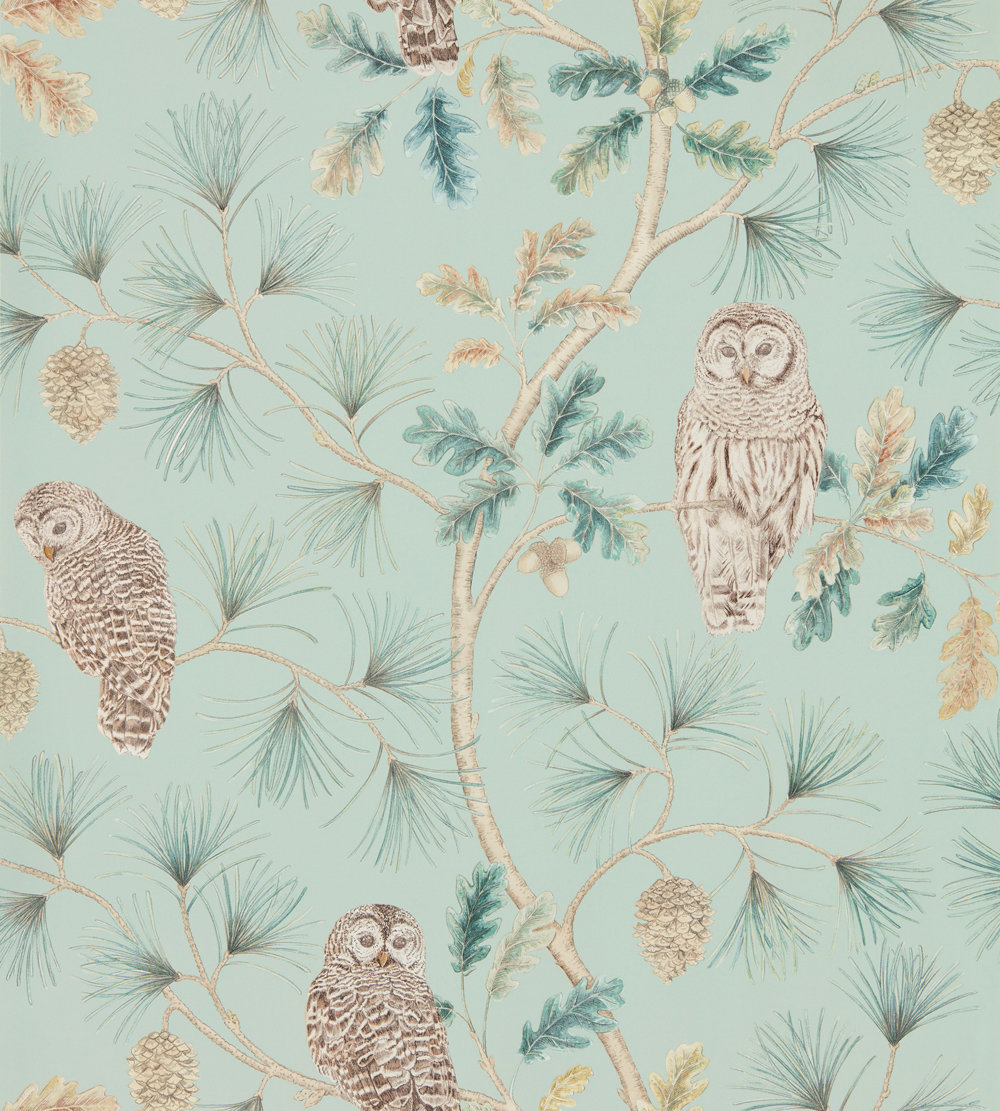 Sanderson Owlswick Whitstable Blue Wallpaper - Product code: 216596