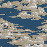 Sanderson Silvi Clouds Yacht Blue Wallpaper