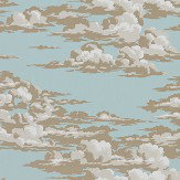 Sanderson Silvi Clouds English Blue Wallpaper