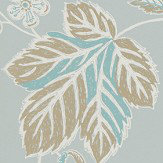 Sanderson Warwick Blue Grey Wallpaper