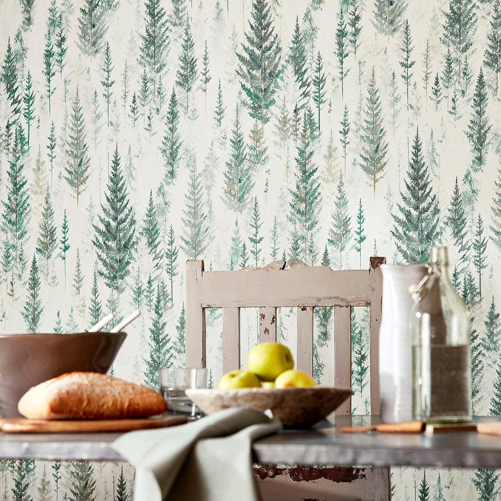 Juniper Pine Wallpaper - Forest - by Sanderson