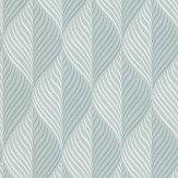 Nina Campbell Bonnelles Aqua/ Ochre Wallpaper - Product code: NCW4352-03