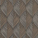Nina Campbell Bonnelles Black/ Gilver Wallpaper - Product code: NCW4352-06