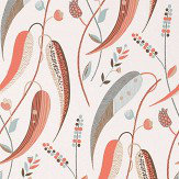 Nina Campbell Colbert Coral/ Aqua Wallpaper - Product code: NCW4353-01