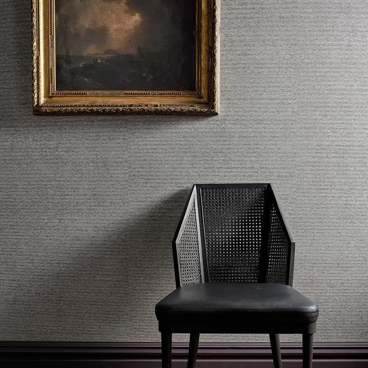 Zoffany Ormonde Muddy Amber / Bone Black Wallpaper - Product code: 312876