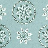 Nina Campbell Garance Aqua Wallpaper - Product code: NCW4354-02