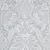 Zoffany Mitford Damask Empire Grey  Wallpaper