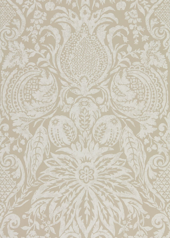 Zoffany Mitford Damask Stone Wallpaper - Product code: 312878