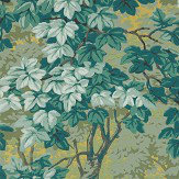 Zoffany Richmond Park Evergreen Wallpaper