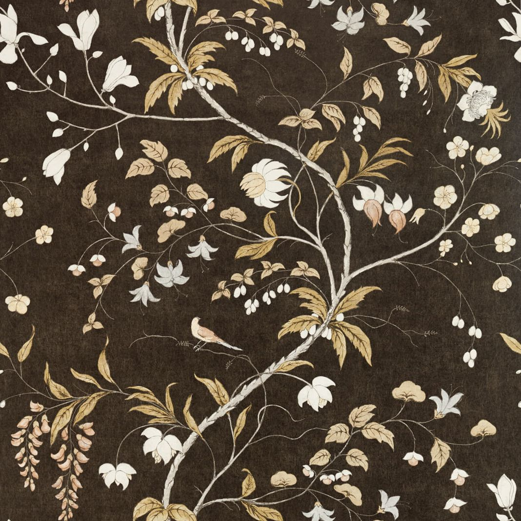 Zoffany Chambalon Antique Gold / Vine Black Mural - Product code: 312850