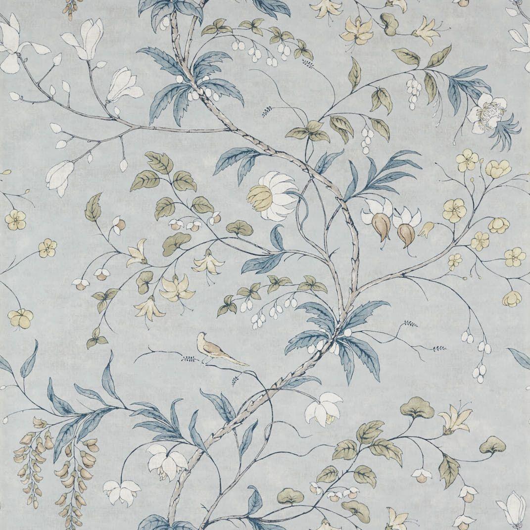 Zoffany Chambalon Mercury / Platinum Grey Mural - Product code: 312851