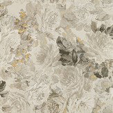 Zoffany Rose Absolute Linen / Gold Mural