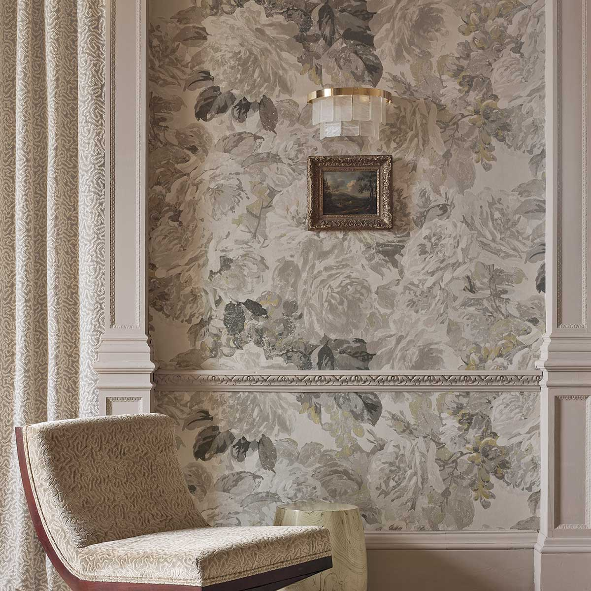 Zoffany Rose Absolute Linen / Gold Mural - Product code: 312853