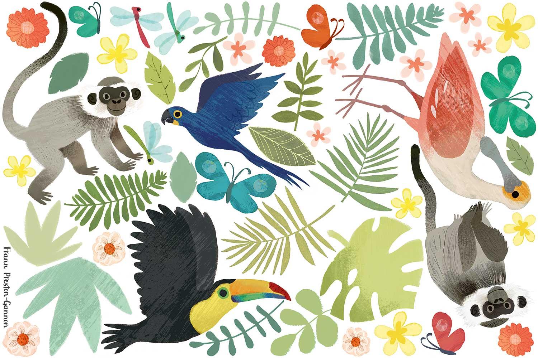 Jungle Jumble Sticker - Multi-coloured - by Villa Nova