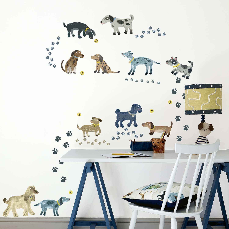 Walkies Wall Stickers - Multi-coloured - by Villa Nova