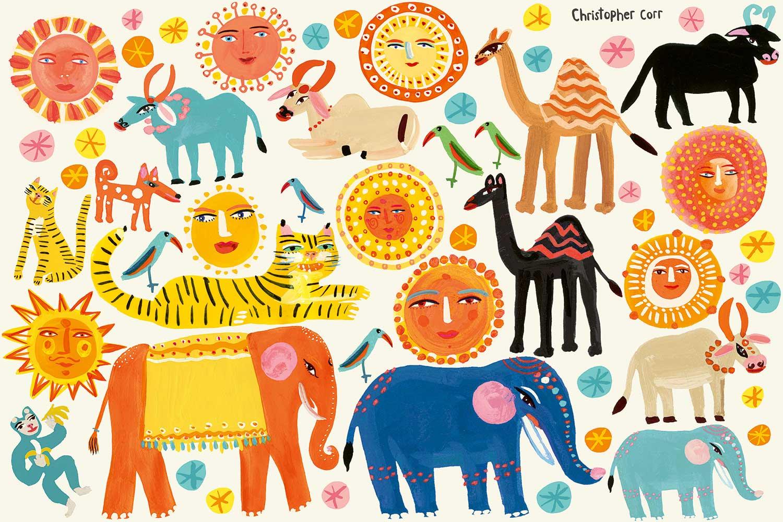 Villa Nova Sundance Wall Stickers Multi-coloured - Product code: W578/01