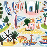 Villa Nova Island Hopping Wall Stickers Multi-coloured
