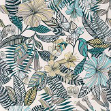 Matthew Williamson Valldemossa Ivory/ Sea Blue  Wallpaper - Product code: W7260-02