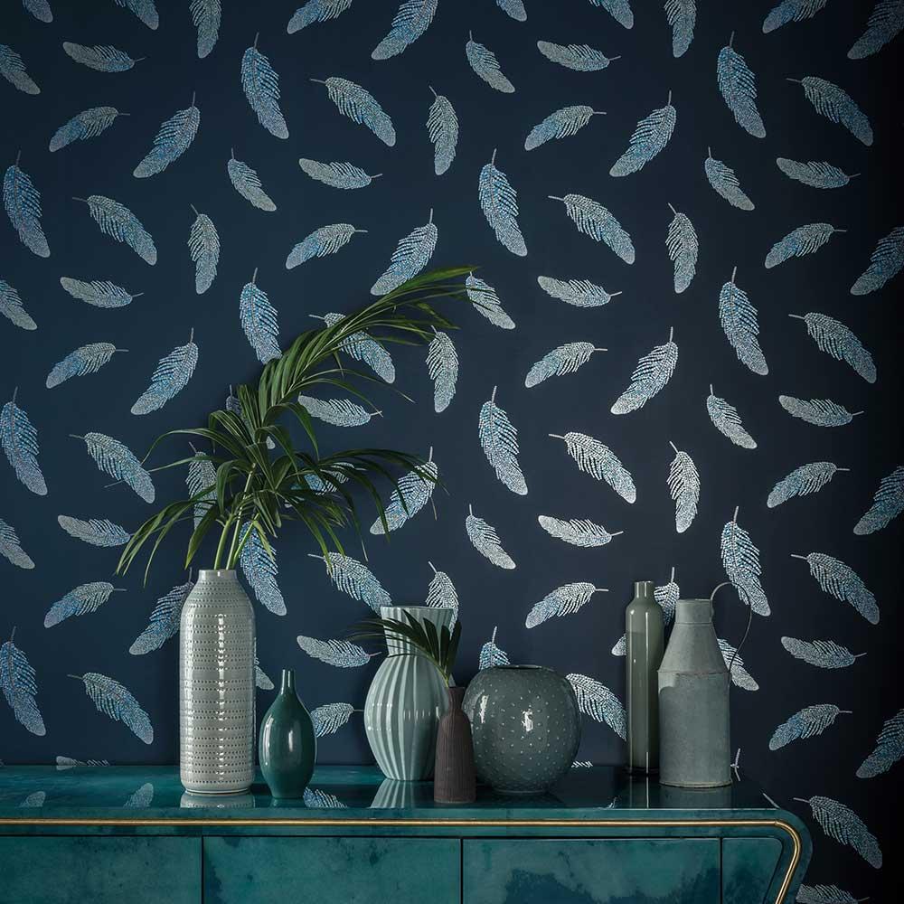 Matthew Williamson Adornado Navy/ Sapphire Wallpaper - Product code: W7261-01