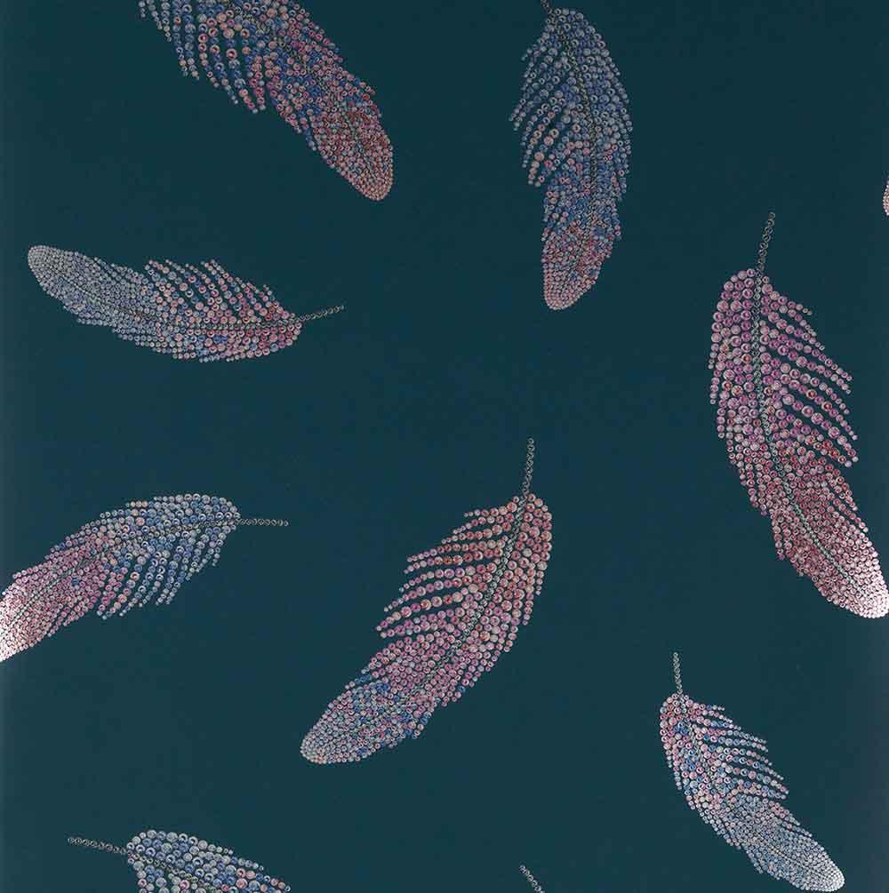 Matthew Williamson Adornado Teal/ Sapphire/ Fuchsia Wallpaper - Product code: W7261-02