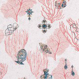 Matthew Williamson Coralino Coral/ Amethyst/ Gold Wallpaper - Product code: W7262-01