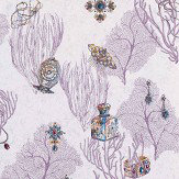 Matthew Williamson Coralino Amethyst/ Sapphire/ Gold Wallpaper - Product code: W7262-02