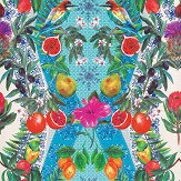 Matthew Williamson Talavera Persian Blue/ Turquoise Wallpaper - Product code: W7263-01